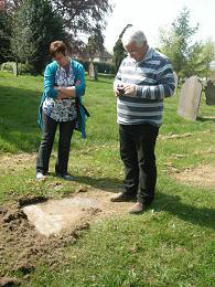 Jacqui and Steven visited graveyards around the Walcote area  with me