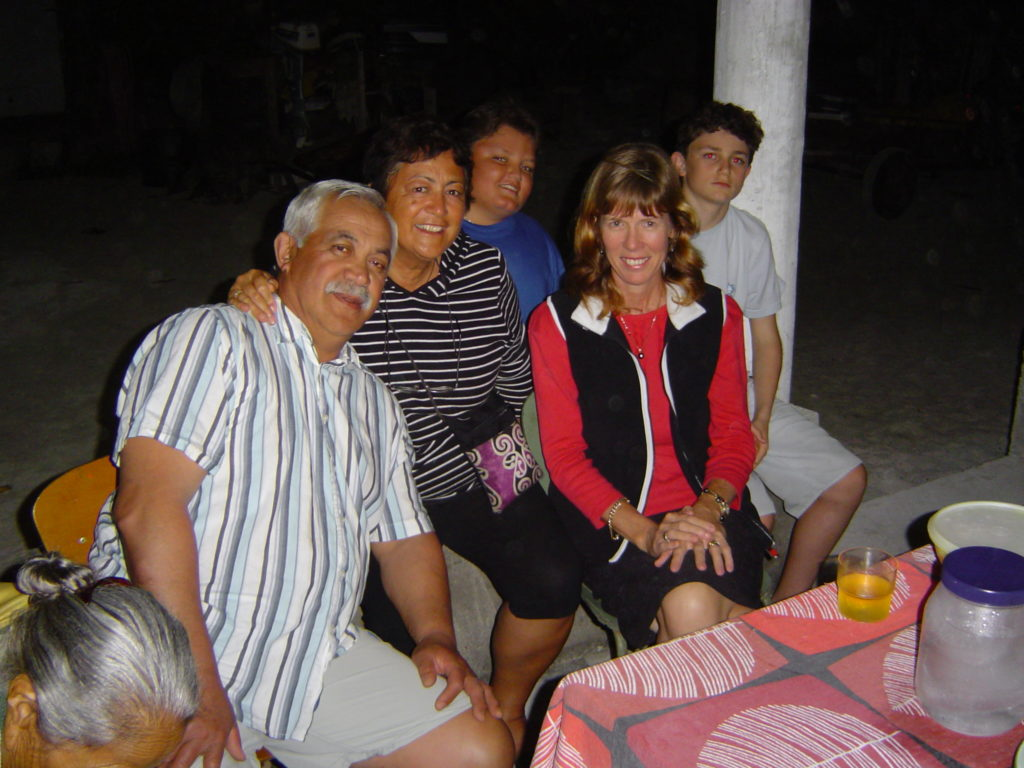 Final dinner with the family before our return to Rarotonga