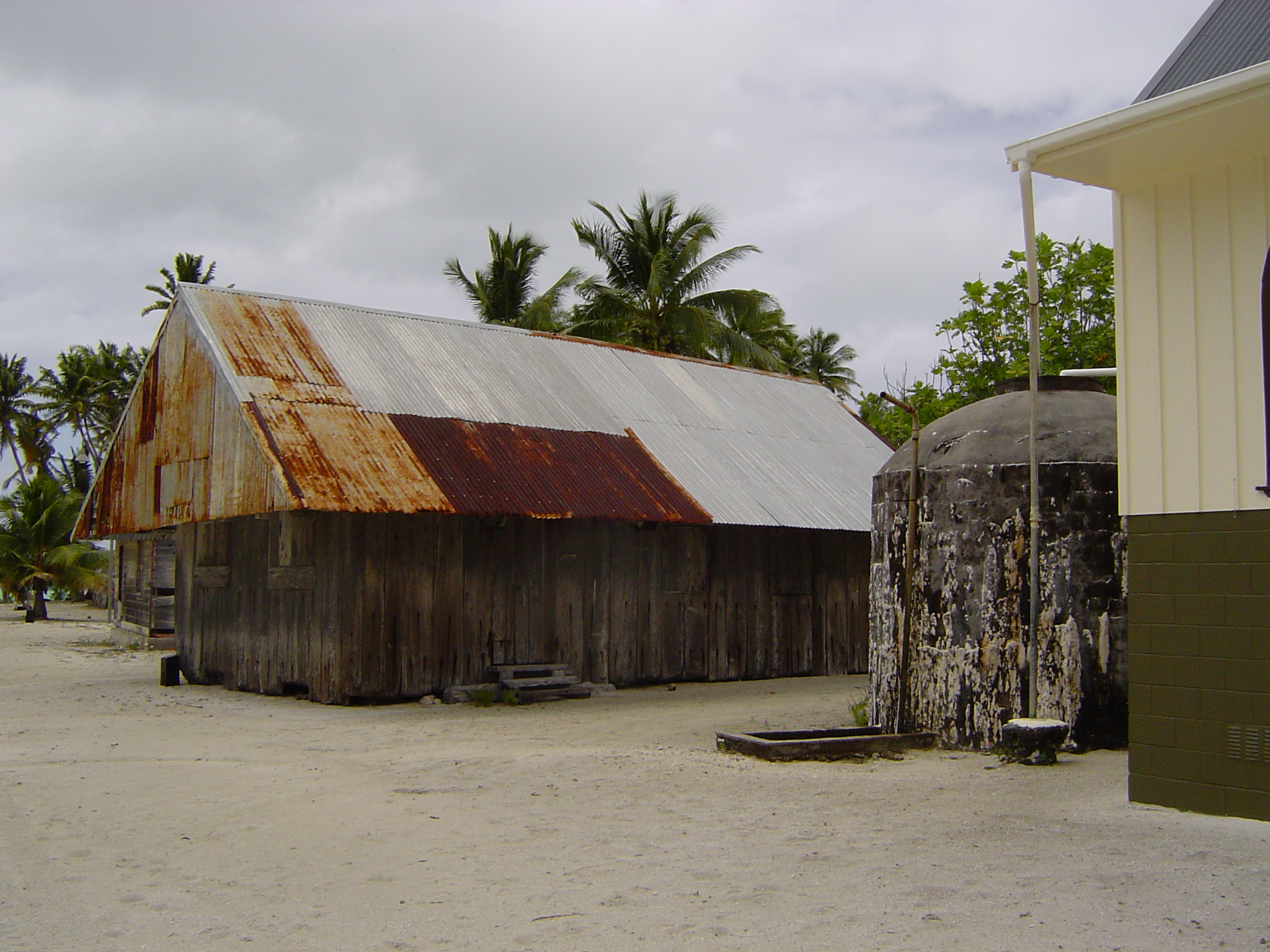 The Old Tin House is built from the wrecks on the reef