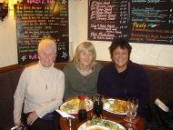 With Val Howard and Bev Digger at the Cavalier Arms in Lutterworth