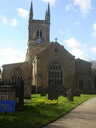 St Mary's Church in Lutterworth where John (1880) and Ann (1873) are buried