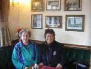 With Kath Green and old photos of Walcote at the Walcote Inn
